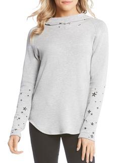 Karen Kane Star-Print Hooded Sweatshirt