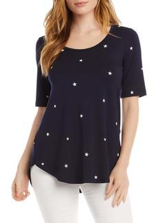 Karen Kane Star Print Shirttail Top