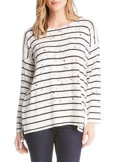 Karen Kane Star Printed Stripe Sweater