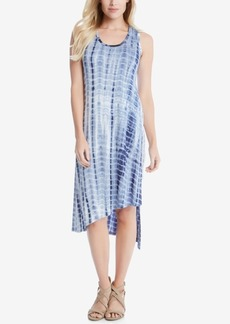 Karen Kane Stevie Asymmetrical Tie-Dyed Tank Dress