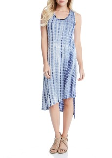 Karen Kane Stevie Print Jersey Asymmetrical Tank Dress