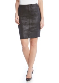 Karen Kane Stretch Faux Leather Skirt