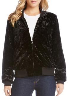 Karen Kane Stretch Velvet Bomber Jacket