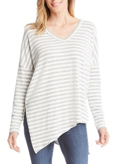 Karen Kane Stripe Asymmetrical Top