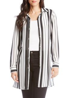 Karen Kane Stripe Belted Tunic Top