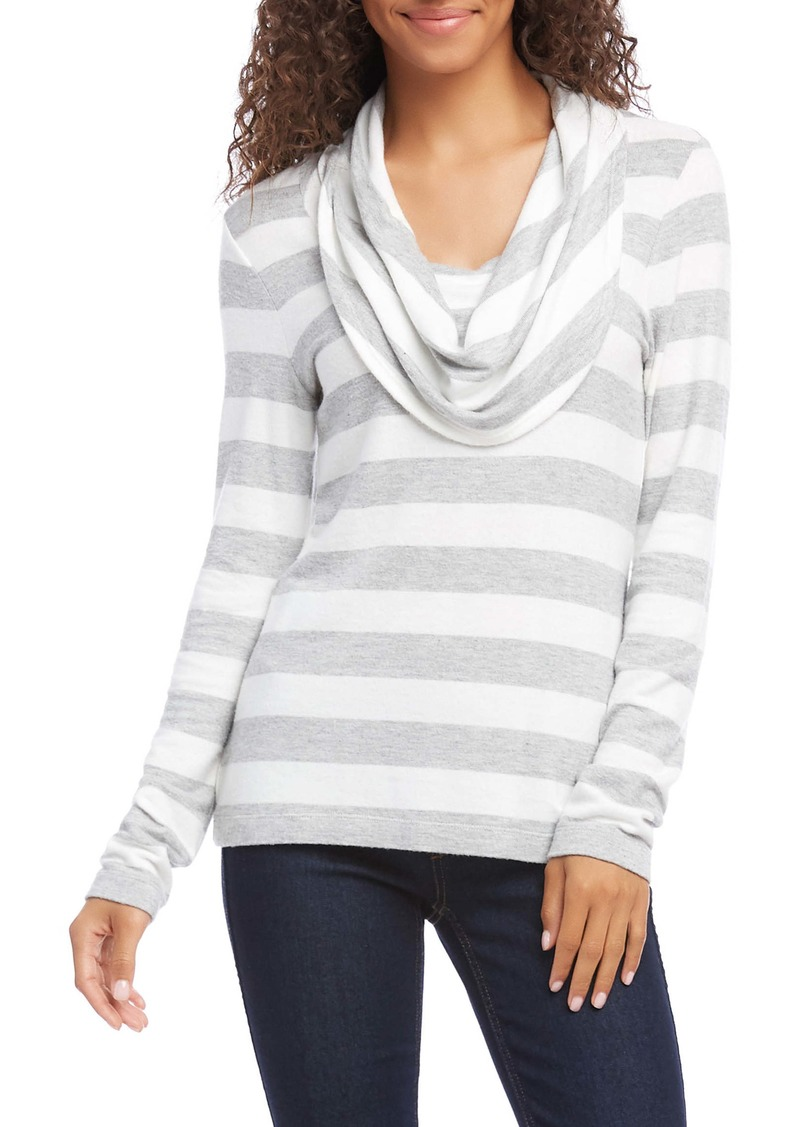 Karen Kane Stripe Drape Neck Top