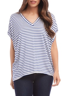 Karen Kane Stripe High/Low Top