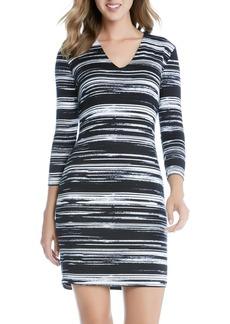 Karen Kane Stripe Jersey Sheath Dress