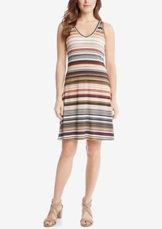 Karen Kane Striped A-Line Dress