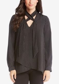 Karen Kane Striped Criss-Cross Shirt