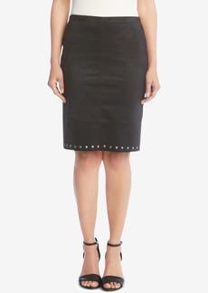 Karen Kane Studded Faux-Suede Skirt