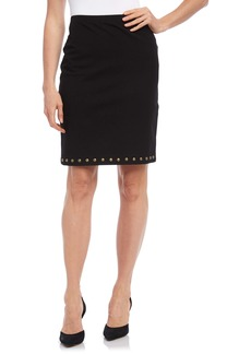 Karen Kane Studded Pencil Skirt