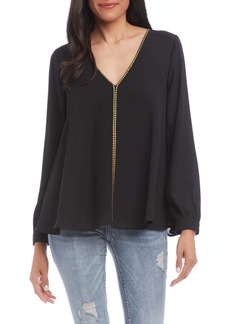 Karen Kane Studded V-Neck Top