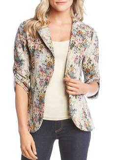 Karen Kane Tapestry-Inspired Floral Peplum Jacket