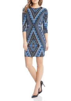 Karen Kane Tapestry-Print Dress