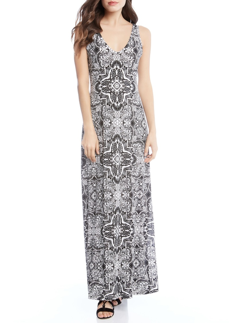 a50f997c081 Karen Kane Karen Kane Tapestry Side Slit Maxi Dress