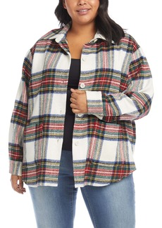 Karen Kane Tartan Shirt Jacket (Plus Size)