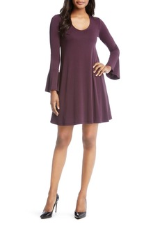 Karen Kane Taylor Bell-Sleeve Dress
