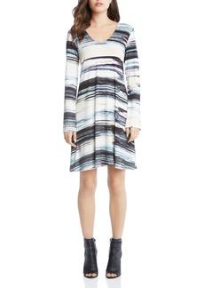 Karen Kane Taylor Brushstroke Print Dress