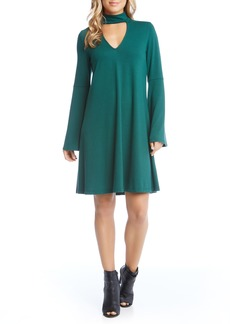 Karen Kane Taylor Choker Neck Dress