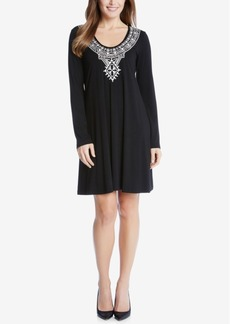 Karen Kane Taylor Embroidered Shift Dress