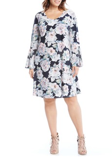 Karen Kane Taylor Flare Sleeve Dress (Plus Size)