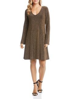Karen Kane Taylor Metallic A-Line Dress