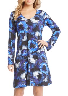 Karen Kane Taylor Midnight Floral Print A-Line Dress