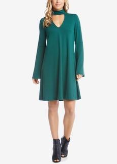 Karen Kane Taylor Mock-Neck Cutout Shift Dress