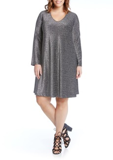 Karen Kane Taylor Sparkle A-Line Dress (Plus Size)
