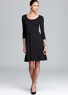 Karen Kane Three Quarter Sleeve A-Line Dress