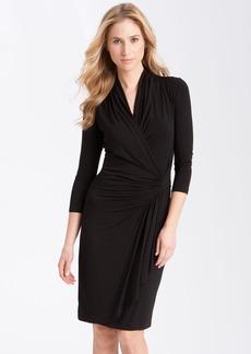 Karen Kane Cascade Faux Wrap Dress (Regular & Petite)