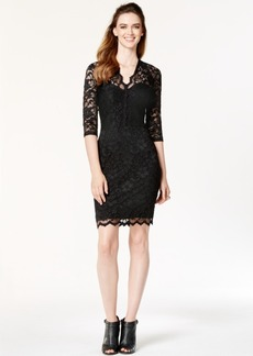 Karen Kane Three-Quarter-Sleeve Lace Sheath