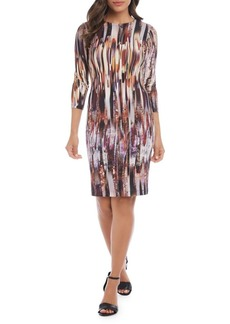 Karen Kane Three-Quarter Sleeve Sheath Dress