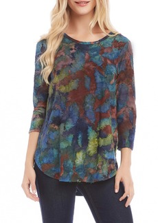 Karen Kane Tie Dye Burnout Top