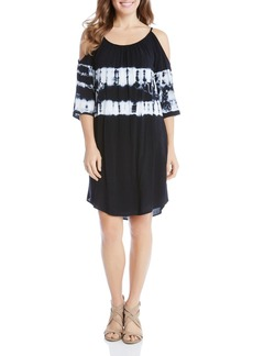 Karen Kane Tie-Dye Cold-Shoulder Dress