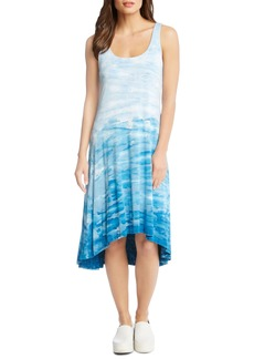 Karen Kane Tie Dye High/Low Tank Dress