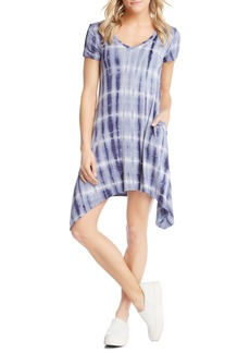 Karen Kane Tie Dye Sharkbite Hem Dress