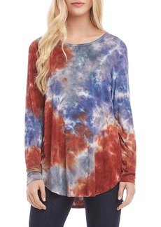 Karen Kane Tie-Dye Shirttail Top