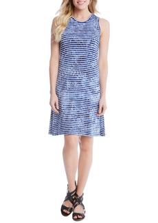 Karen Kane Tie-Dye Stripe A-Line Dress
