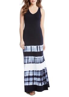 Karen Kane Tie Dye Stripe Maxi Dress