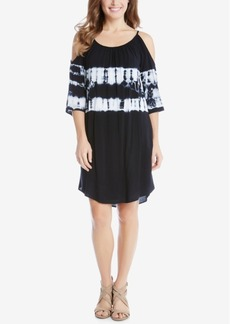 Karen Kane Tie-Dyed Cold-Shoulder Shift Dress