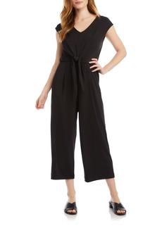 Karen Kane Tie Front Crop Wide Leg Jumpsuit