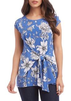 Karen Kane Tie Front Floral Top
