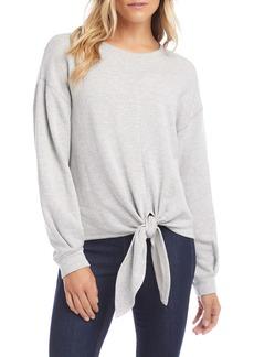 Karen Kane Tie Hem Sweatshirt