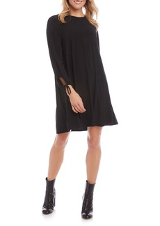 Karen Kane Tie Long Sleeve Swing Dress
