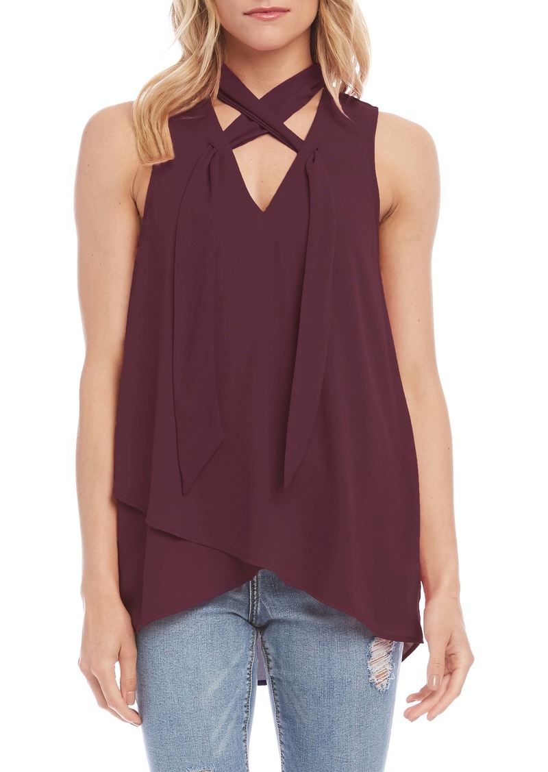 Karen Kane Tie Neck Sleeveless Top