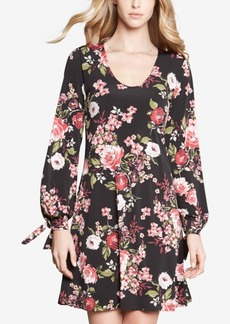 Karen Kane Tie-Sleeve Printed Taylor Dress