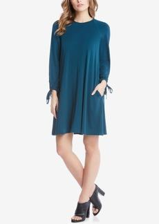 Karen Kane Tie-Sleeve Shift Dress