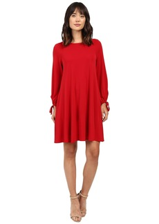 Karen Kane Tie-Sleeve Swing Dress